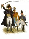 Soult (1) with a captain ADC (2) and Adjutant-Commandant (3) at Corunna, January 1809.