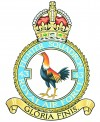 Official crest of No 43 'Fighting Cocks' Sqn