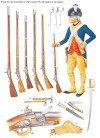 Private from the Commander-in-Chief's Guard, 1778, with equipment and weapons