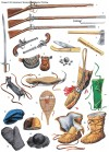 Rangers' kit, equipment, weapons, and special clothing