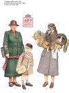 Volunteer, Women's Voluntary Service; Evacuee child & Civilian gas masks