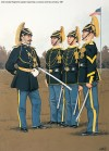 2nd Cavalry Regiment captain inspecting a corporal and two privates, 1891