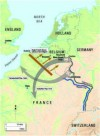 The Schlieffen Plan of 1914 was designed to envelop Paris from the north-east, but determined resistance from the Belgian, British and French armies disrupted the strategy and it faltered on the Marne and Yser Rivers resulting in four years of ghastly tre