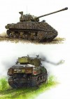 1. Sherman VC Firefly, 21st Armoured Regiment, 4th Canadian Armoured Brigade, 4th Canadian Armoured Division, November 1944 2. Sherman IC Firefly with tulip rockets, C Squadron, 1st Coldstream Guards, Guards Armoured Division, near Bremen, 12 April 1945