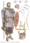 Alamannic warrior, 3rd-4th century AD
