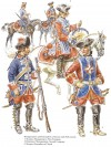 Mousquetaires and Grenadiers à cheval,  mid-18th century