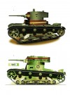 1: T-26 Model 1933, Bandera de Carros de Combate de la Legion, Spanish Nationalist Army, 1938 & 2: T-26 Model 1933, 1 Tank Taburu, Turkish Army, Luleburgaz, Turkey, 1936