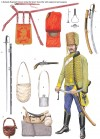 A Nadasdy Regiment Hussar during the Seven Years War with equipment and weapons.