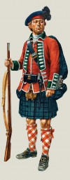 77th (Montgomeryメs Highlanders) Regiment of Foot, Private, Battalion Company, 1758.