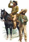 US CAVALRYMAN AND VILLISTA IRREGULAR