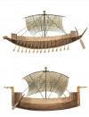 Eyptian War Galley (top) and Sea Peoples Ship (Bottom)