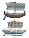 Syrian Ship (Top) and Minoan Galley (Bottom)
