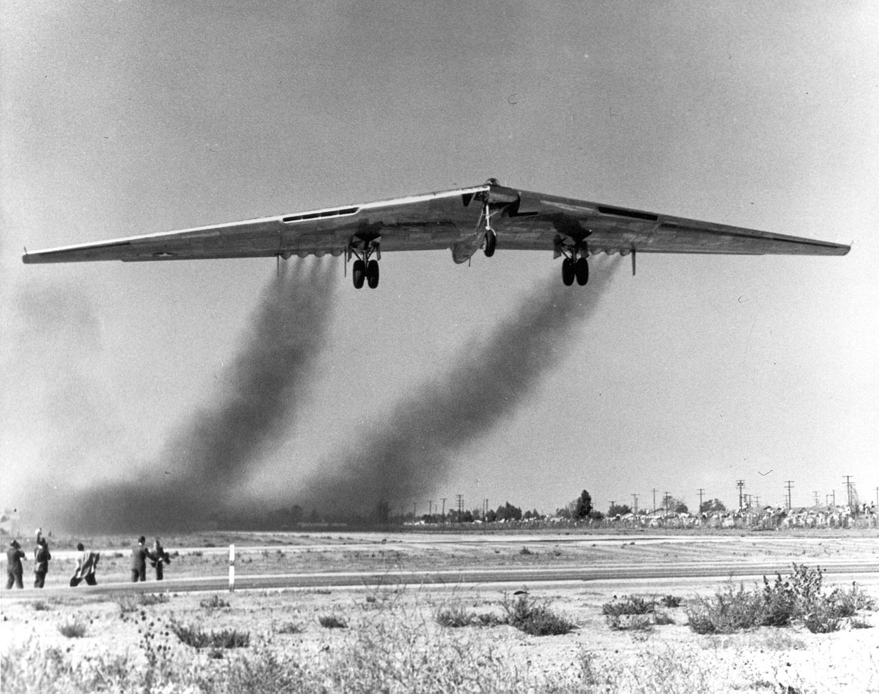 YB-49 takes to the sky