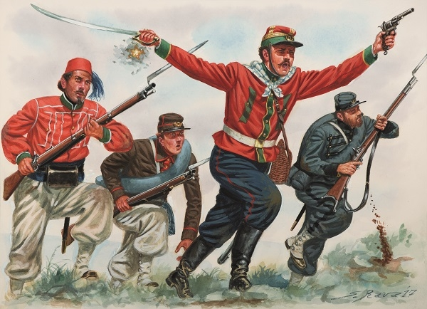 Red Shirt Infantry 1860-61