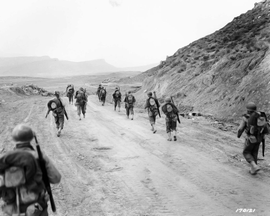 American soldiers in the Kasserine pass