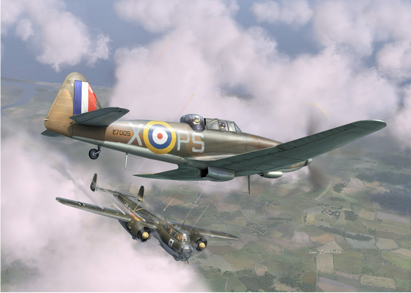 RAF Fighters vs Luftwaffe Bombers