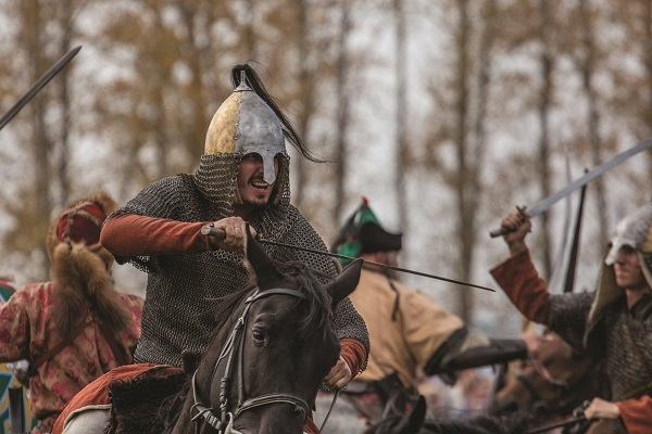 Russian cavalryman, re-enactment, Petr Shelomovskiy