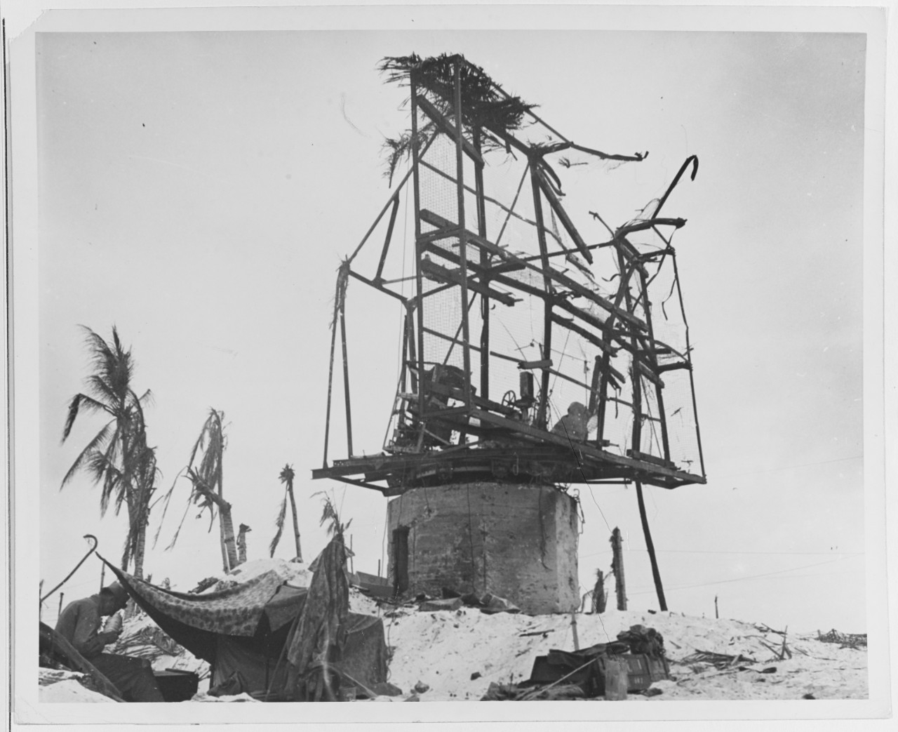 Japanese radar installation on Betio Island, Tarawa Atoll