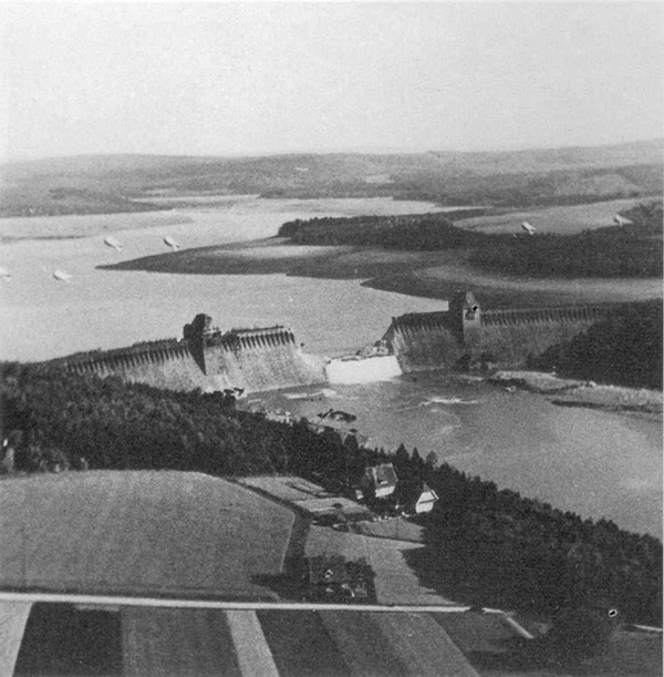 The Möhne dam on the day following the attacks.