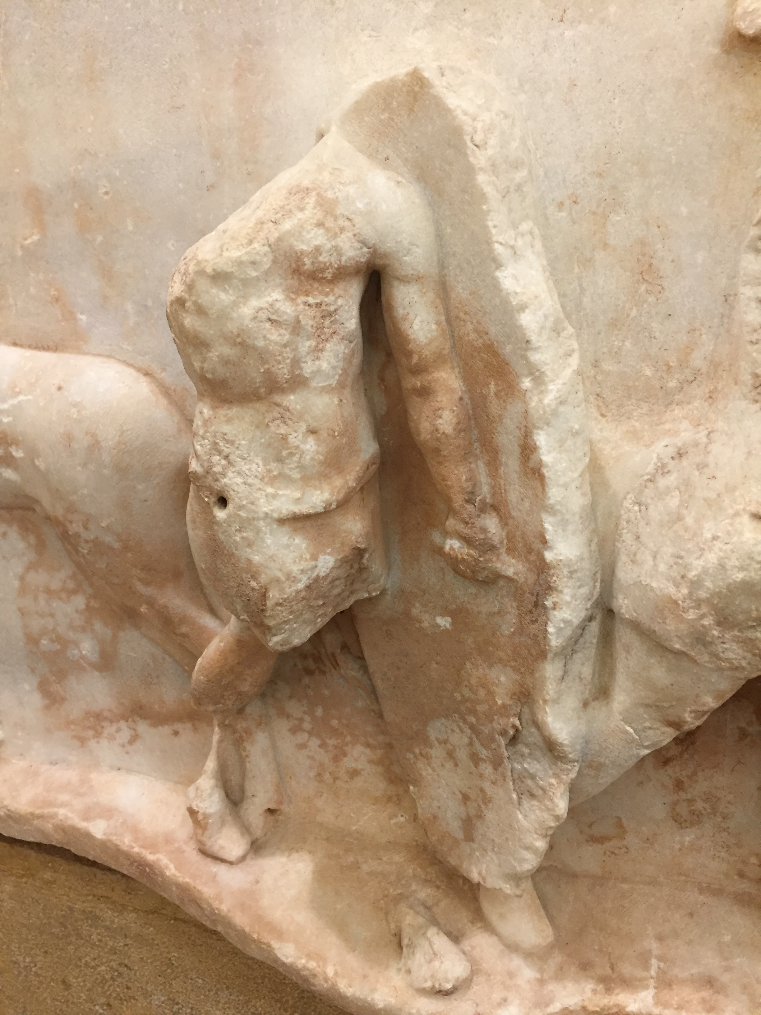 This detail from the Aemilius Paulus monument confirms how Roman soldiers of the period gripped their shields.