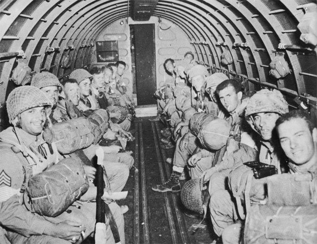 US paratroops bound for Sicily