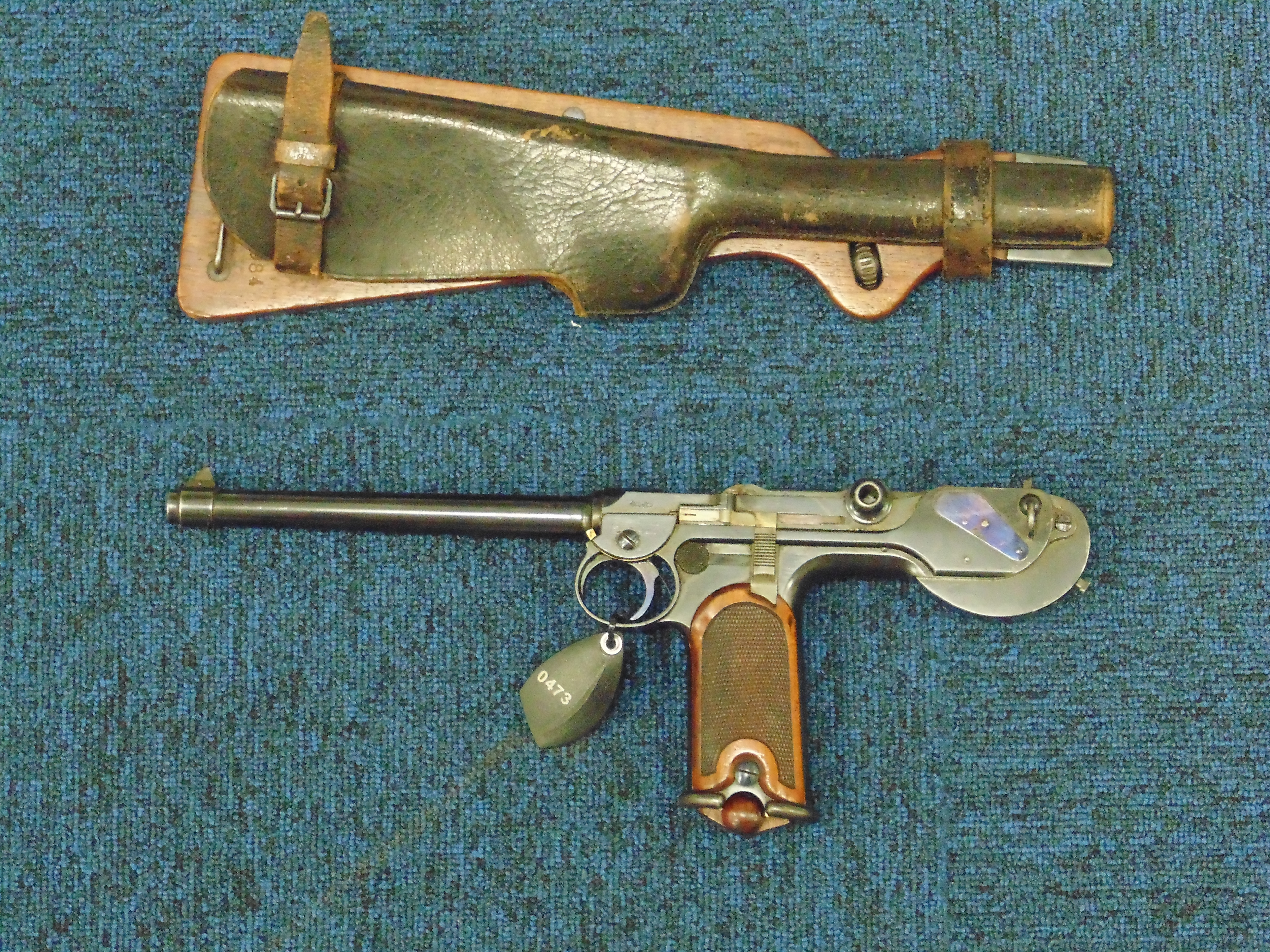 The Borchardt C93 was the Luger's immediate ancestor, and the first practical automatic pistol, preceding the Mauser C96 by several years